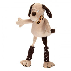 Doudou chien beige aux longues pattes Lucien LES PETITES MARIE
