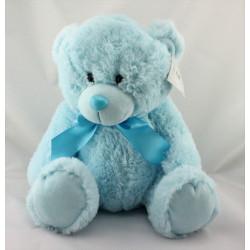Doudou peluche ours bleu Mon Premier Ourson Les Zigolos GIFI