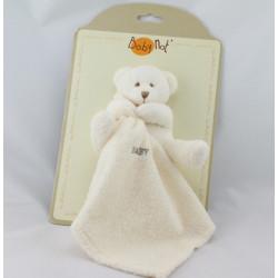 Doudou plat ours blanc mouchoir Baby nat
