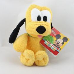 Doudou chien Pluto collier vert DISNEY 20 cm