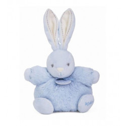 Doudou lapin bleu P'tit lapinou bleu PERLE KALOO