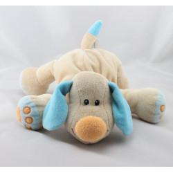 Doudou chien Bo beige bleu JOLLYMEX
