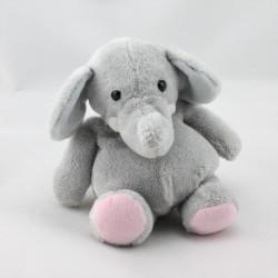 Doudou éléphant gris HISTOIRE D'OURS 16 cm