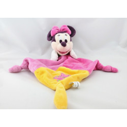 Doudou plat minnie rose jaune ours DISNEYLAND PARIS