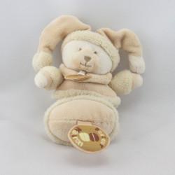 Doudou et compagnie hochet ours beige Douceur Macaron