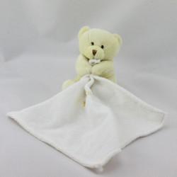 Doudou ours jaune avec mouchoir Baby nat