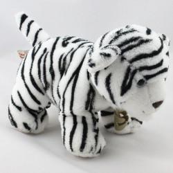 Doudou peluche chat tigré blanc noir HISTOIRE D'OURS