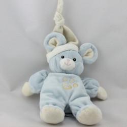 Doudou souris bleu blanc pattes GIPSY