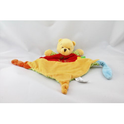 Doudou plat winnie l'ourson rouge vert arrosoir DISNEY NICOTOY