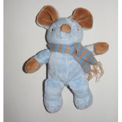 Doudou souris bleu GRAINE D'EVEIL