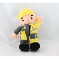 Doudou poupée mécanicien jaune gris RENAULT
