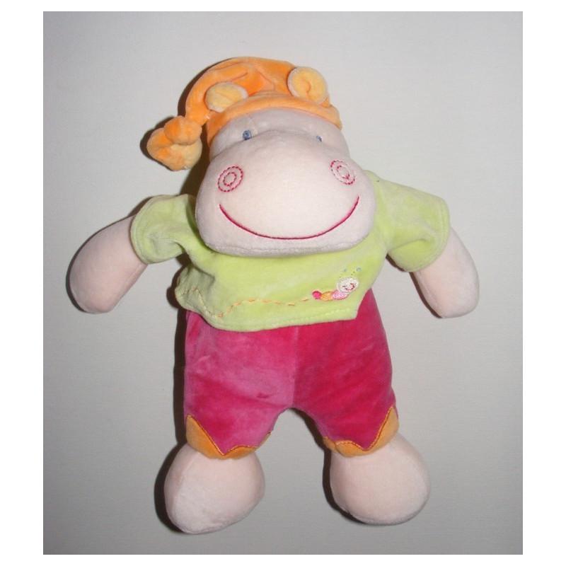 Doudou hippopotame rose Hyppo et Flo NATTOU