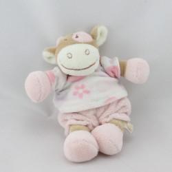 Doudou vache rose rosalie Dotty lola pois NOUKIE'S