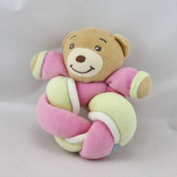 Mini Doudou lapin rose jaune noeud candies lollies KALOO