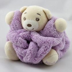 Doudou petit ours Plume mauve KALOO