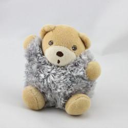 Mini Doudou ours gris fourrure Fur KALOO