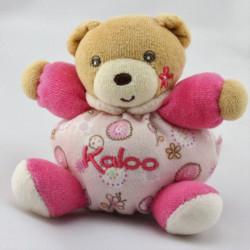 Mini Doudou ours rose fleurs KALOO