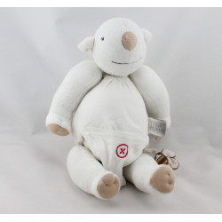 Doudou eveil ours blanc couche rouge PICWIC