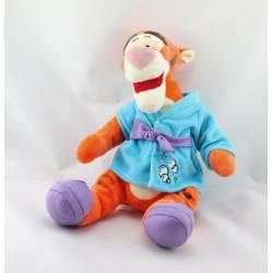Peluche Tigrou en pyjama peignoir bleu DISNEY NICOTOY