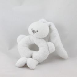Doudou hochet lapin blanc NATTOU