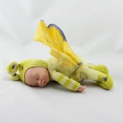 Poupée papillon vert jaune ANNE GEDDES 25 cm