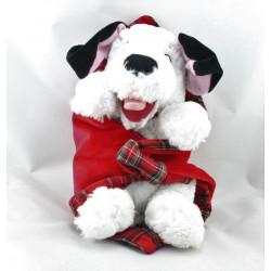 Doudou chien dalmatien mouchoir couverture rouge carreaux DISNEY