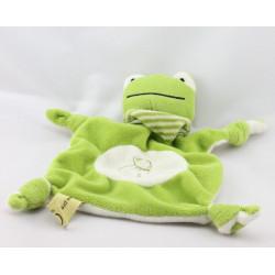 Doudou plat grenouille verte VALORIA
