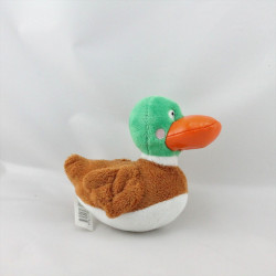 Doudou canard vert marron blanc HOLINAIL