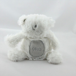 Doudou ours blanc gris ORCHESTRA