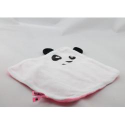 Doudou plat blanc rose PETIT PANDA