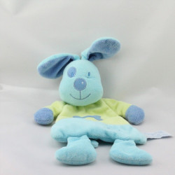 Doudou plat chien bleu vert TIAMO COLLECTION