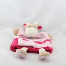Doudou plat marionnette V comme vache BABY