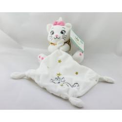 Doudou plat chat blanc Marie Les Aristochats mouchoir étoiles or DISNEY BABY