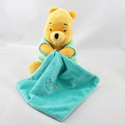Doudou luminescent Winnie l'ourson mouchoir vert DISNEY