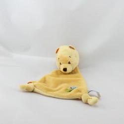 Petit Doudou plat Winnie l'ourson jaune feuille DISNEY