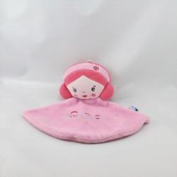Doudou plat poupée rose SUCRE D'ORGE