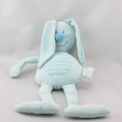Doudou lapin bleu rayé BABOU