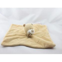 Doudou plat ours beige marron écharpe BENGY