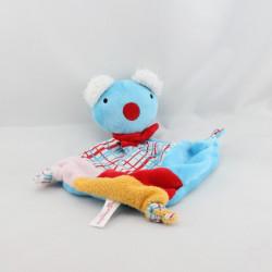 Doudou plat koala bleu rouge jaune rose PENELOPE AUGUSTA DU BAY
