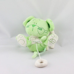Doudou musical souris verte TIAMO COLLECTION