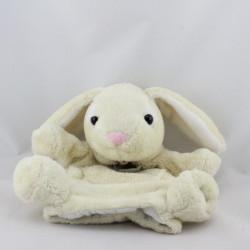 Doudou marionnette lapin écru HISTOIRE D'OURS