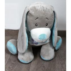 Doudou chien gris bleu Arthur et Lola BEBISOL