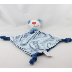 Doudou plat souris ours bleu rayé Dodo d'amour MGM