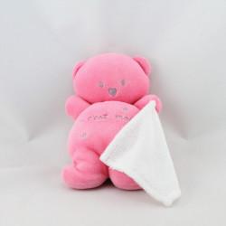 Doudou ours rose c'est moi mouchoir KIABI BEBE