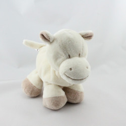 Doudou hippopotame blanc écru beige GIPSY