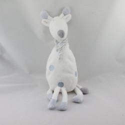 Doudou girafe blanche bleu Pippa DIMPEL