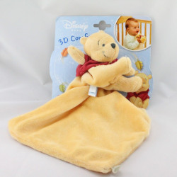 Doudou Winnie l'ourson mouchoir jaune DISNEY BABY