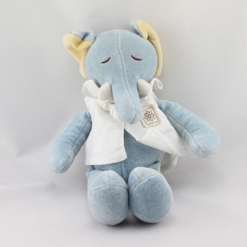 Doudou éléphant bleu MY NATURAL