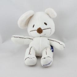 Doudou souris blanche marron ITSIMAGICAL