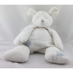 Doudou souris blanche bleu DIMPEL